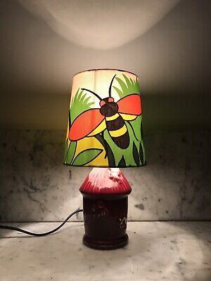 Vintage Table Lamp Retro French Bee Hive Custom Shade