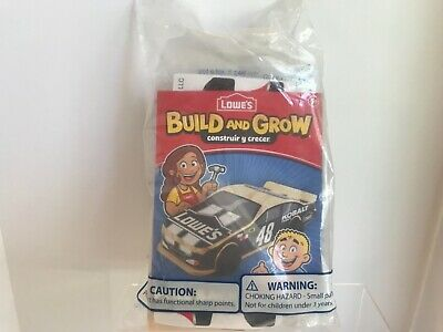 Lowes Build And Grow Pull Back Race Car Wood Project Kit New