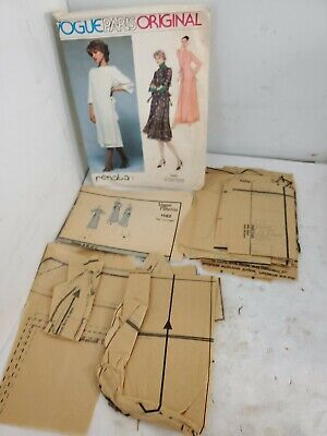 1970's VTG VOGUE Misses' Dress Renata Pattern 1582 Size 12 Pre-cut