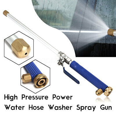 Hydro Jet High Pressure Power Washer Water Spray Gun Nozzle Wand Attachment Se