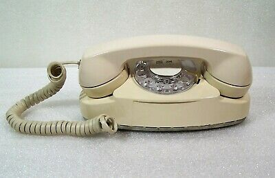 WESTERN ELECTRIC Princess Rotary Dial Phone w/Cords Beige 702BM Telephone Works