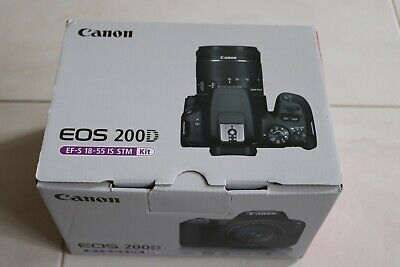Canon EOS 200D 24.2 MP DSLR Camera - Black With EFS 18-55mm STM Lens