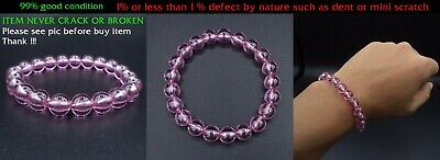 Mala Bracelet Naga Gem Pink Color Bead 7.8-8 Mm Real Thai Amulet Powerful