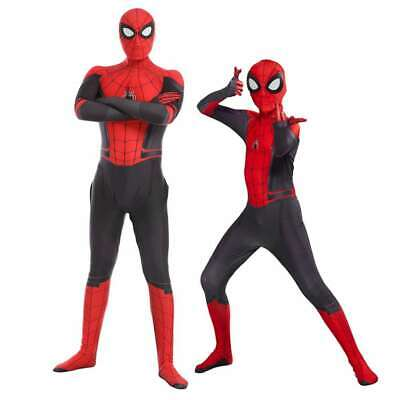 Adult Kids Spider-Man Far From Home Peter Parker Zentai Cosplay Costume Suit USA