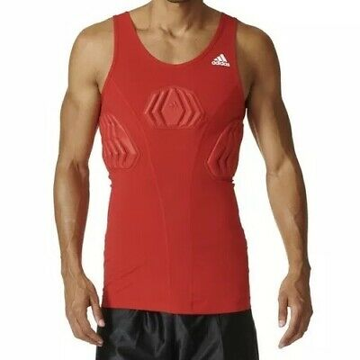 *NEW* Adidas Sz S Basketball Men's Padded Tank Red Techfit Compression S05380