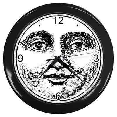 Moon Face Vintage Retro Style Round Wall Clock