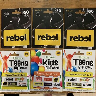 $200 Value Of Rebel Sport Vouchers