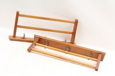 1x Old Wardrobe Clothes Shelf Rack Wood Cult Retro Vintage Old