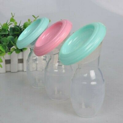 Mom Silicone Manual Breast Pump Baby Breastfeeding Milk Saver Suction Bottle NEW