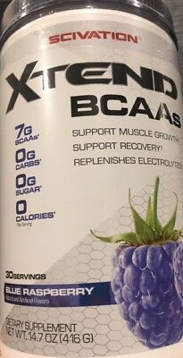 Scivation Xtend 30 Serves Extend BCAA Blue Raspberry Glutamine Amino Acids