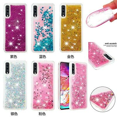 Dynamic Liquid Glitter Quicksand Bling Sparkle Soft Back Case Cover For Samsung