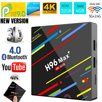 H96 Pro MAX Plus 4GB 32GB Android 9.0 TV Box K18.0 Smart Network Media Player