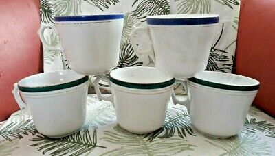 5 Tasses Anciennes A Cafe Moka Bistrot  Badonviller ? Numerotees