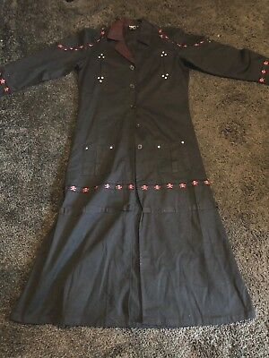 Dead Threads Gothic Long Coat - Size Large - Emo Punk Goth Hellraiser