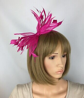 Fuchsia Pink Fascinator Mother Of The Bride Occasion Wedding Races Ascot
