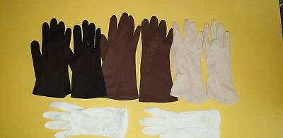 Vintage Dress Gloves, 6 Pairs Various Sizes & Colours