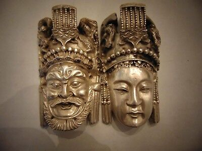 Vintage Mediterranean Head Sculptures Marked Sterling Israel