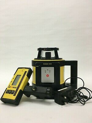 Leica Rugby 810 Rotating Laser with Geomax ZRP105 Detector & 1 year calibration