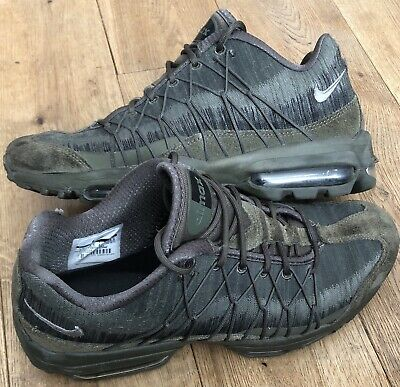 dc9010a2aa Mens Nike Air Max 95 Ultra Jacquard Trainers In Green Size Uk 6.5 - Rrp £