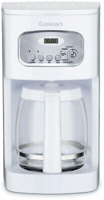 CUISINART 12-Cup Coffee Maker Programmable w/ Ergonomic Handle, Brew Pause White