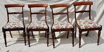 Four Regency Rosewood Bar Back Dining Chairs C1820