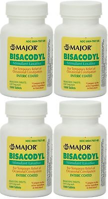 Major Pharmaceuticals Bisacodyl 5mg Generic for Dulcolax, Laxative Coated...