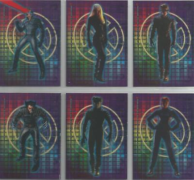 """X-Men The Movie - """"Clear Cling Cards"""" 12 Card Chase / Insert Set #CL1-12"""