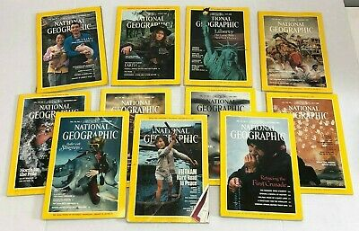 VTG Set 11 National Geographic 1980's Magazines Pacific Rim Great Lakes Earth PH