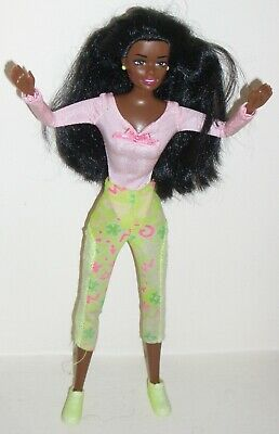 Black Vintage Keep Fit Dressed Made To Move Barbie Doll With Flexible Joints