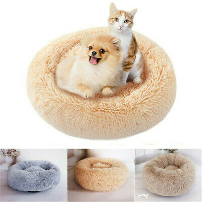 Dog Round Cat Winter Warm Sleeping Bag Long Plush Super Soft Pet Bed CALMING BED