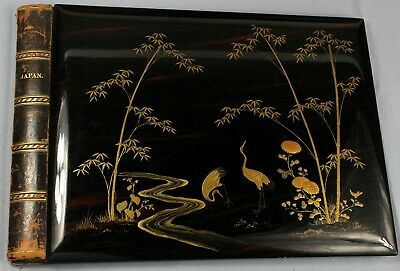 c1890s | lovely lacquered Japanese album covers with exquisite gilt decoration