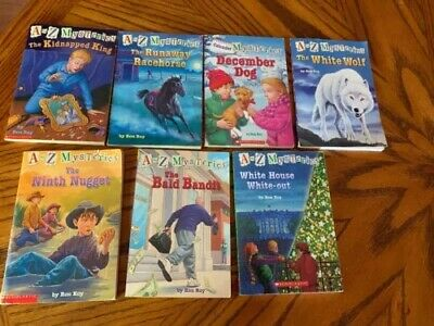 A TO Z MYSTERIES CALENDAR SERIES RON ROY 7 PAPERBACK Chapter BOOKS Free  Shipping