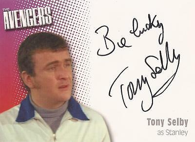 """The Avengers Definitive 2 - A10 Tony Selby """"Stanley"""" Auto/Autograph Card"""
