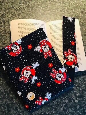 Minnie Mouse Print Fabric Book Sleeve Kindle Protector Bn
