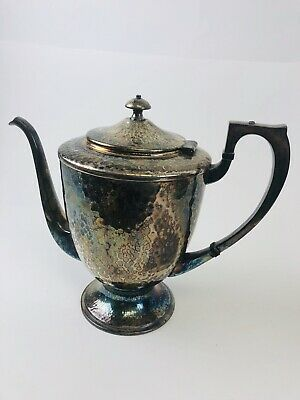 Apollo Sheffield Nickel Silver BRS Tea/Coffee  Pot