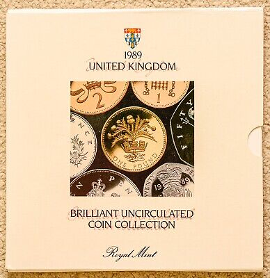 1989 UK Royal Mint Brilliant Uncirculated Coin Set Collection.
