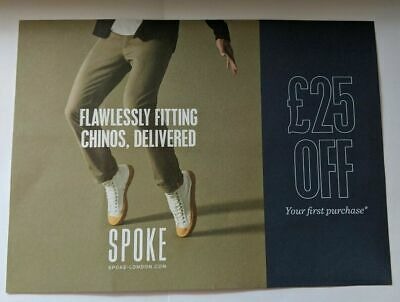 Spoke London Discount Code Voucher for £25 off for flawless chinos trousers