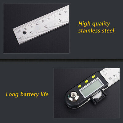 2in1 Length Angle Measuring Digital Protractor Goniometer Angle Ruler LCD Screen