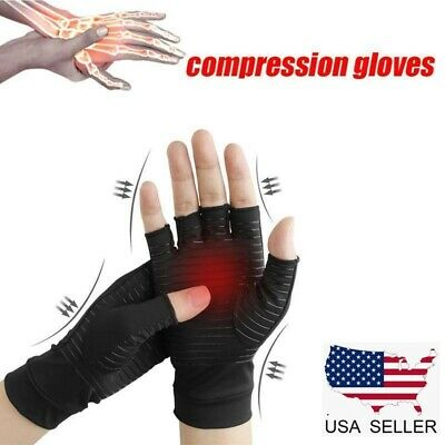 Copper Fit Compression Gloves Arthritis Carpal Tunnel Hand Wrist Brace Support