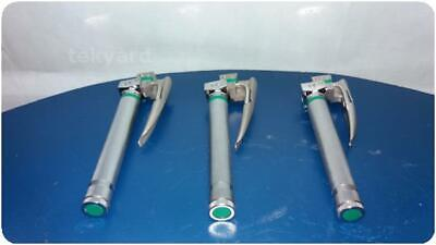 Lot Of 3 Sunmed Greenline Fiberoptic Laryngoscope @ (224913)