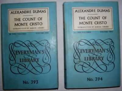 The Count of Monte Cristo by Alexandre Dumas, 2 Vols. No.393/394, Everyman's Lib