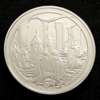 2003 New Zealand Silver Proof $1 Lord of the Rings Knife in the Dark + COA