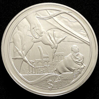 2003 New Zealand Silver Proof $1 coin Lord of the Rings Frodo Nazgul + COA