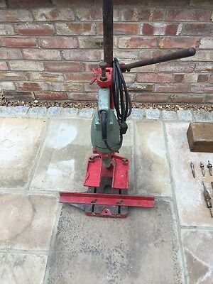 WOLF ES14 Drill press and WD3c DRILL with Selection of Tennon Cutters & Various