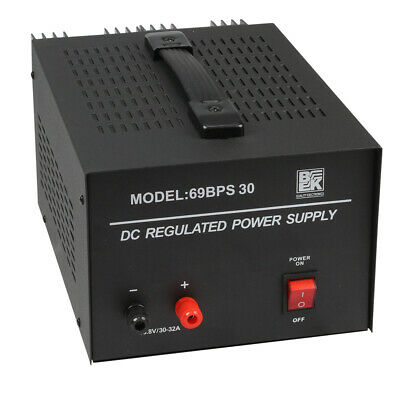 12 Volts Heavy Duty DC Regulated Power Supply 30-32 AMP Surge - 69BPS30