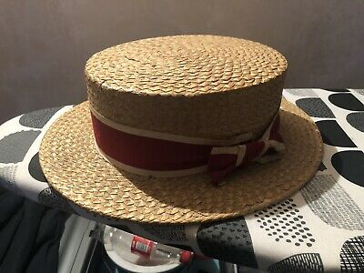 Original 1920s 1940s Peaky blinders Boater Hat