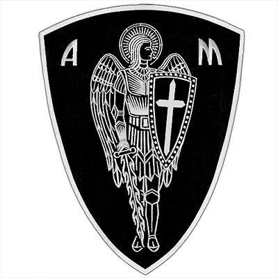 "Vegasbee® Big Archangel St.michael Shield Protection Bnw Iron-On Patch 12""H 9""W"