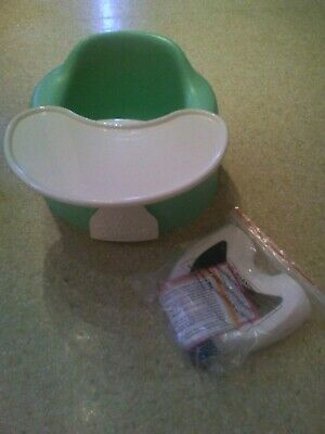 Bumbo Baby Floor Seat Chair Mint Green With Safety Straps And Tray