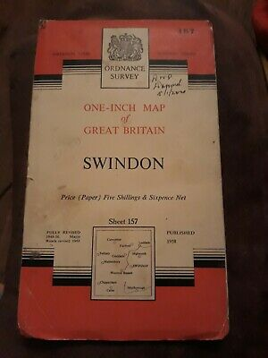 Ordnance Survey One Inch Map - Sheet 157 Swindon (Paper)