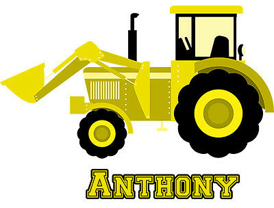 Front End Loader Tractor Iron-On T-Shirt Transfer w/FREE Personalization